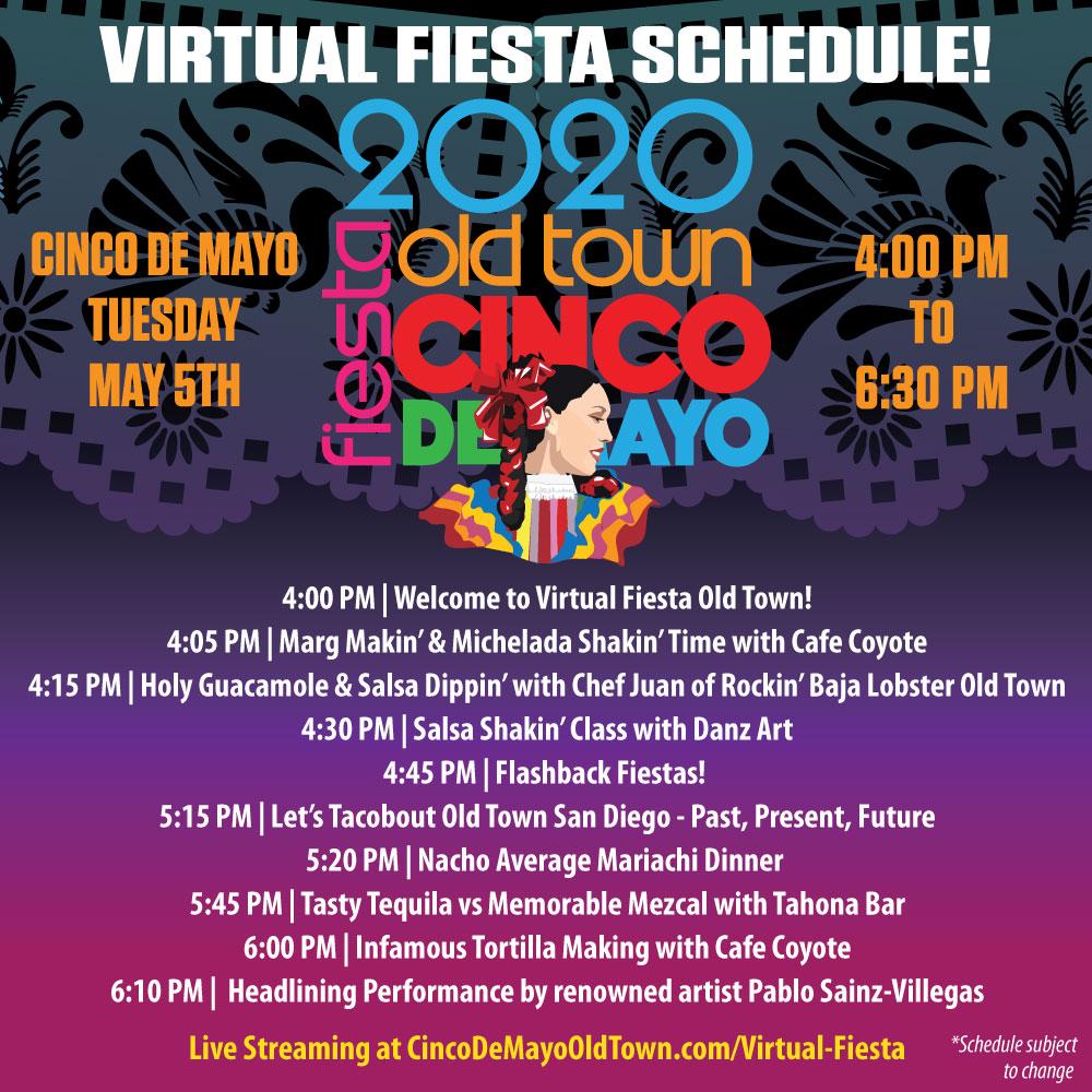 Fiesta2020_Virtual_Schedule cinco de mayo san diego 2018